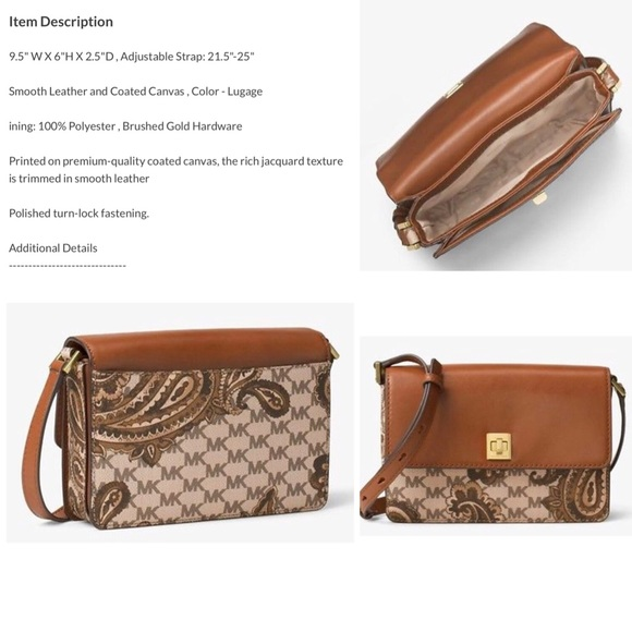 bfc60a43f501 MK Natalie M Heritage Paisley Crossbody collection